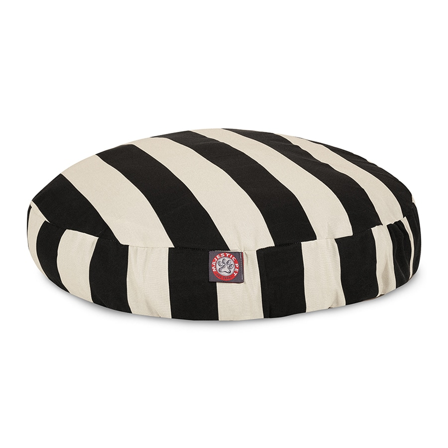 Majestic Pets Black Polyester Round Dog Bed
