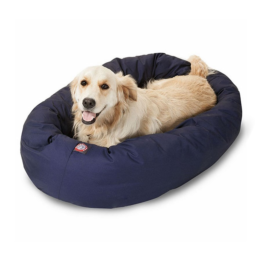 Majestic Pets Blue Poly Cotton Twill Oval Dog Bed