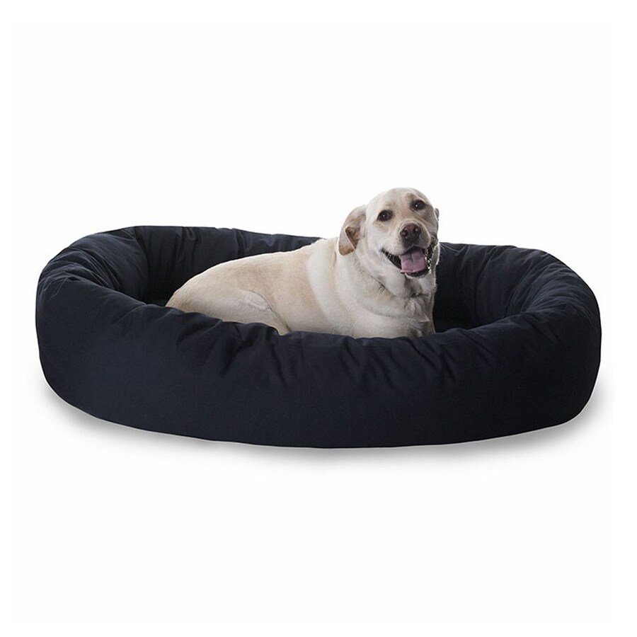 Majestic Pets Black Poly Cotton Twill Oval Dog Bed