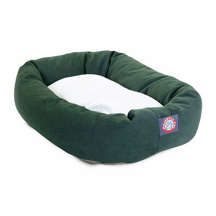 Majestic Pets Green Poly Cotton Twill Oval Dog Bed