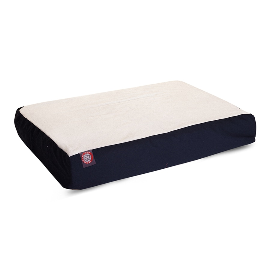 Majestic Pets Blue Faux Sheepskin and Poly Cotton Rectangular Dog Bed