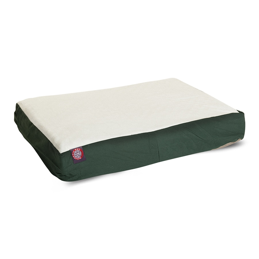 Majestic Pets Green Faux Sheepskin and Poly Cotton Rectangular Dog Bed