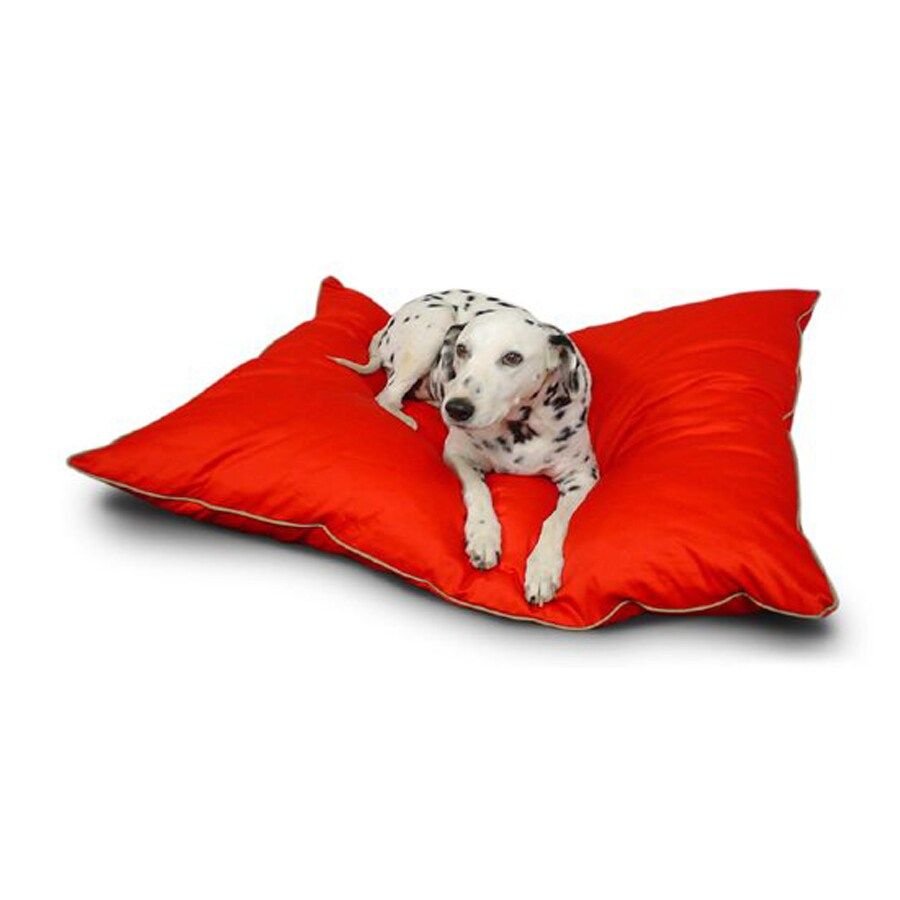 Majestic Pets Red Poly Cotton Rectangular Dog Bed