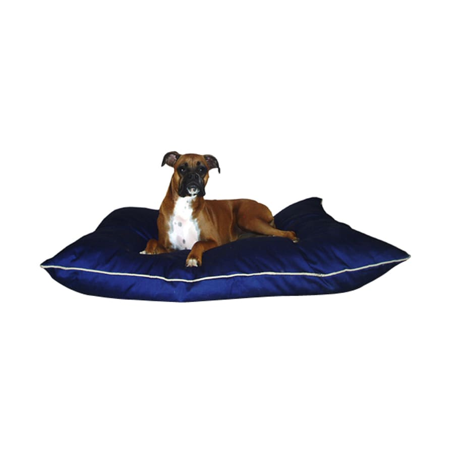 Majestic Pets Blue Poly Cotton Rectangular Dog Bed
