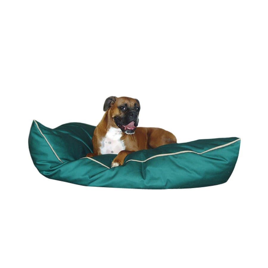 Majestic Pets Green Poly Cotton Rectangular Dog Bed