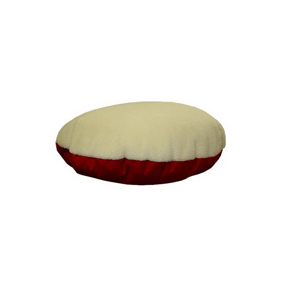 Magnificent Majestic Pets Burgundy Sherpa Faux Sheepskin Round Dog Bed Pabps2019 Chair Design Images Pabps2019Com