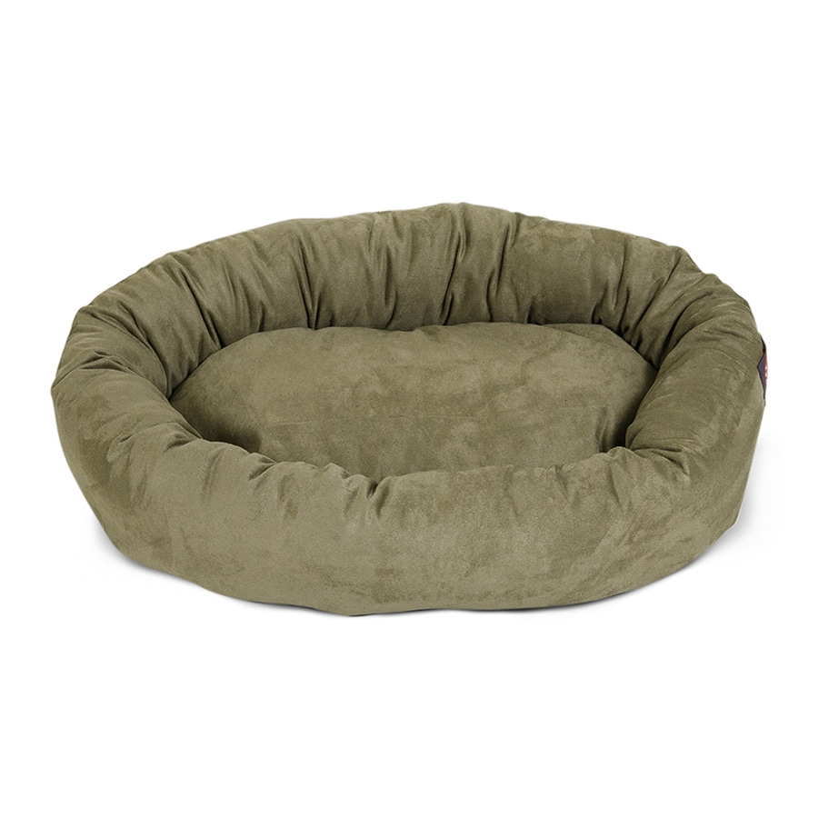 Majestic Pets Sage Faux Suede Oval Dog Bed