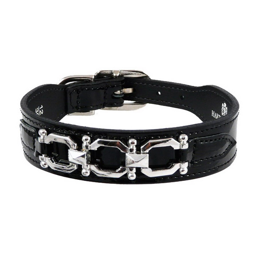 Hartman & Rose Black Patent Leather Dog Collar