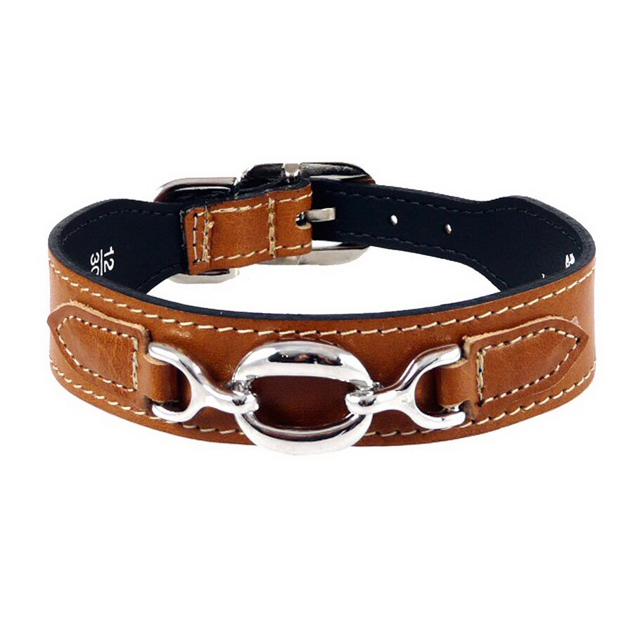 Hartman & Rose Natural Tan Leather Dog Collar