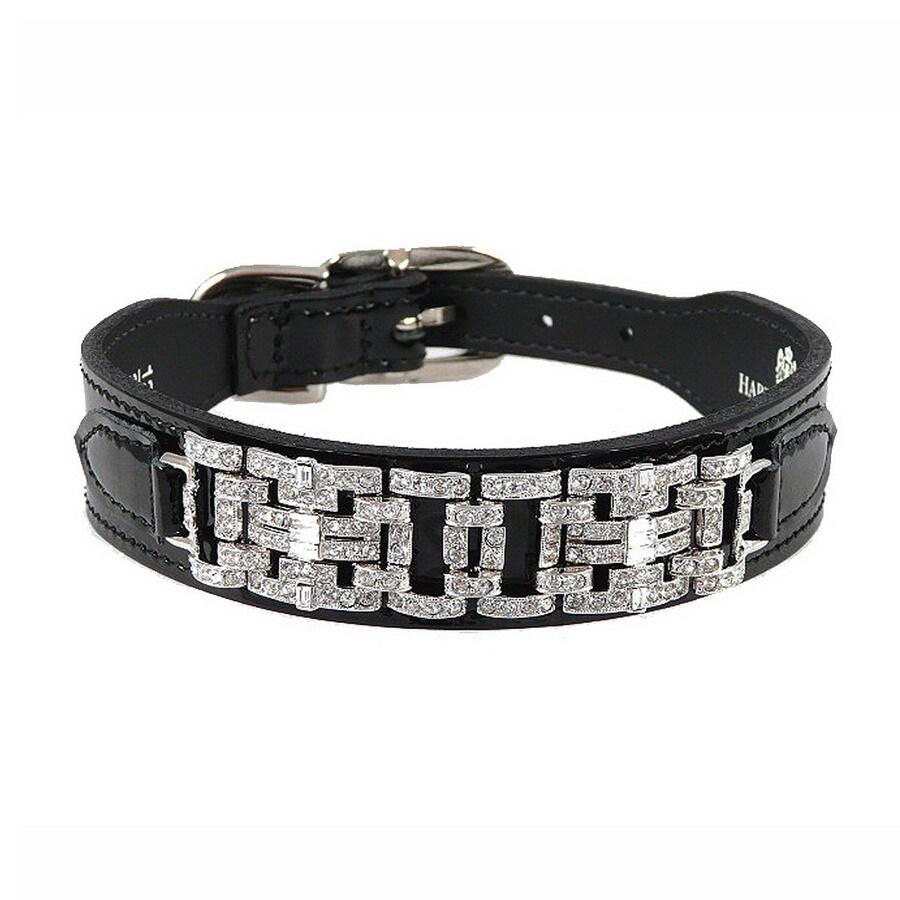 Hartman & Rose Black Patent Leather Dog Collar