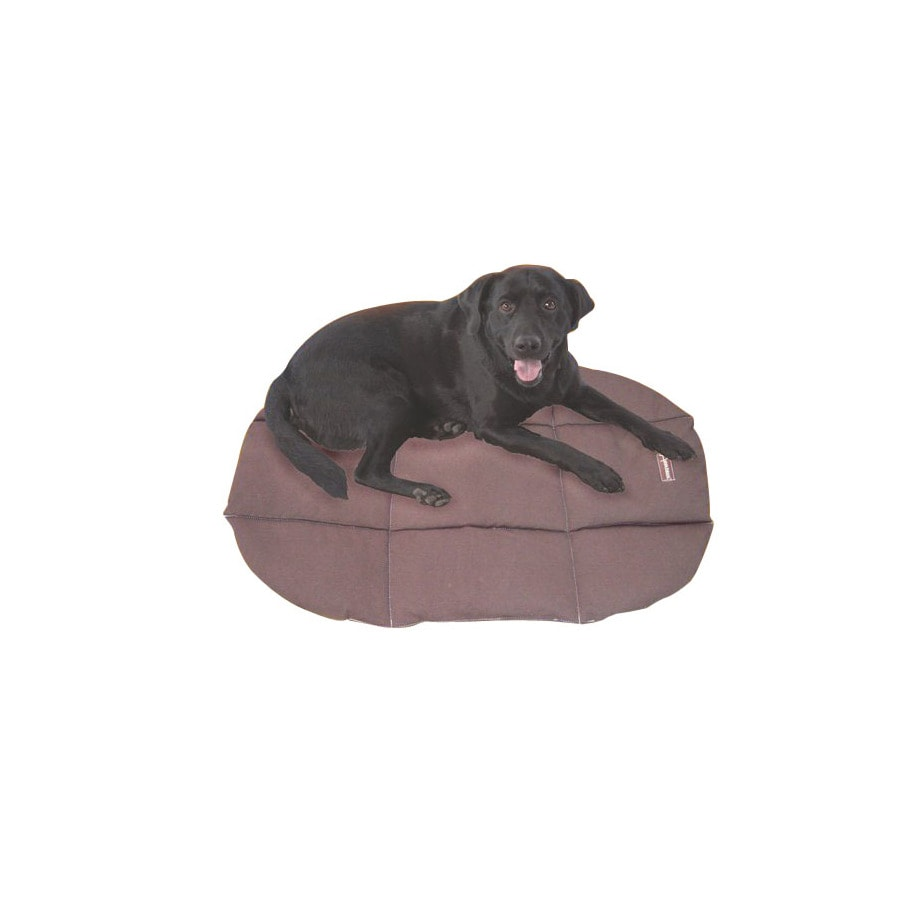 ABO Gear Chocolate Natural Cotton Rectangular Dog Bed