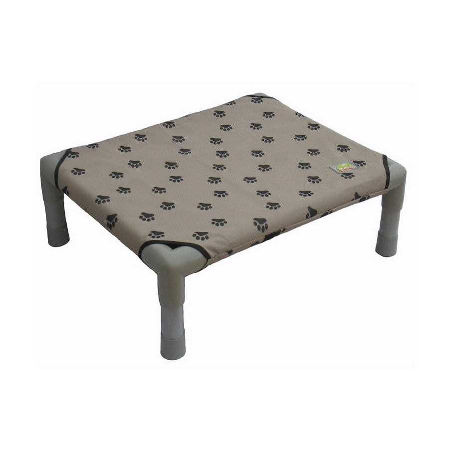 Go Pet Club Paw Print Polyester Rectangular Dog Bed