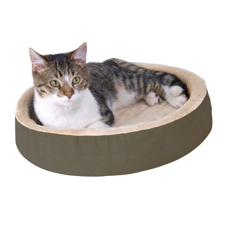 K&H Manufacturing Mocha Polyester Round Cat Bed