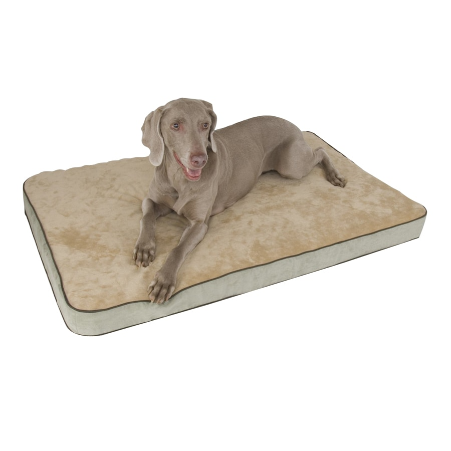 K&H Manufacturing Mocha Polyester/Cotton Rectangular Dog Bed