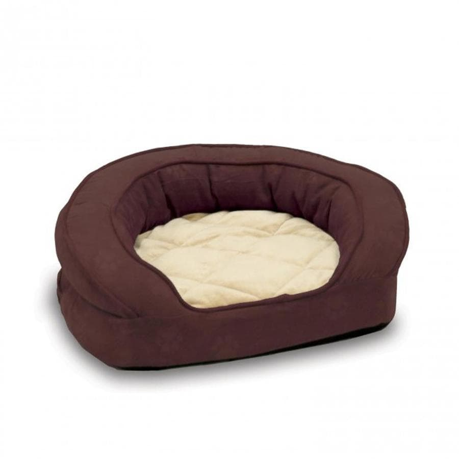 K&H Manufacturing Eggplant Microsuede Rectangular Dog Bed
