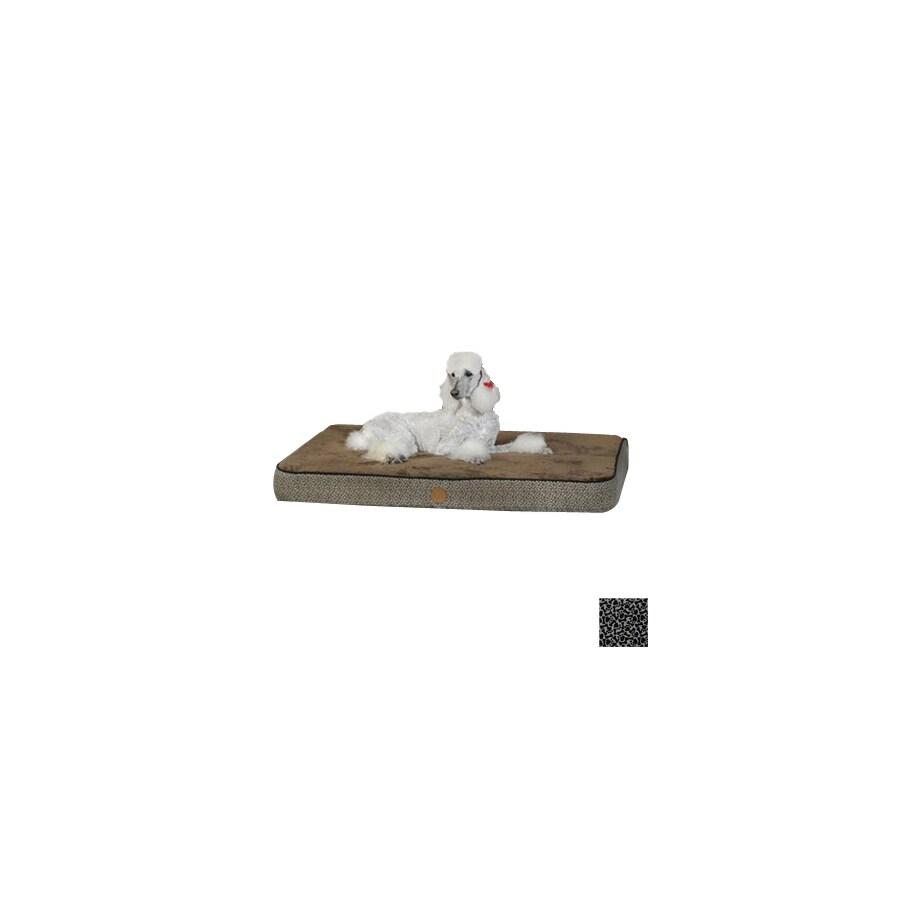 K&H Manufacturing Gray Paw Bone Print Polyester/Cotton Rectangular Dog Bed
