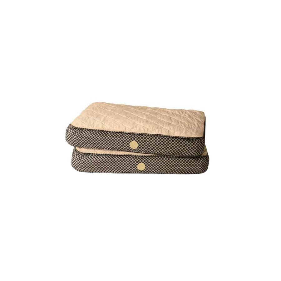 K&H Manufacturing Tan/Brown Microsuede and Soft Fleece Rectangular Dog Bed