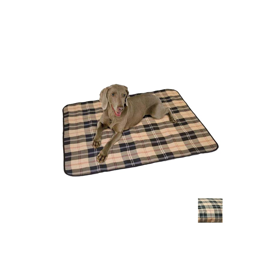 K&H Manufacturing Tan Plaid 600 Denier Nylon Rectangular Dog Bed