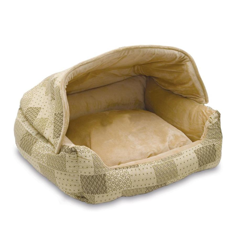 K&H Manufacturing Tan Patchwork Polyester/Cotton and Soft Fleece Dog Bed