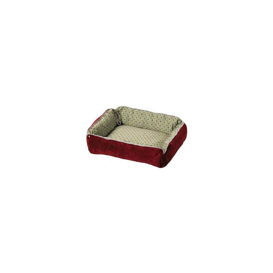midwest pets Wine Synthetic Fur and Polyester Rectangular Dog Bed