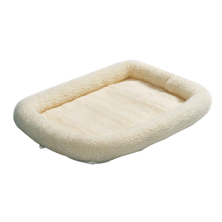midwest pets White Synthetic Sheepskin Rectangular Dog Bed