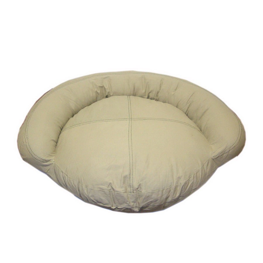 Carolina Pet Company Khaki Cotton Canvas Oval Dog Bed