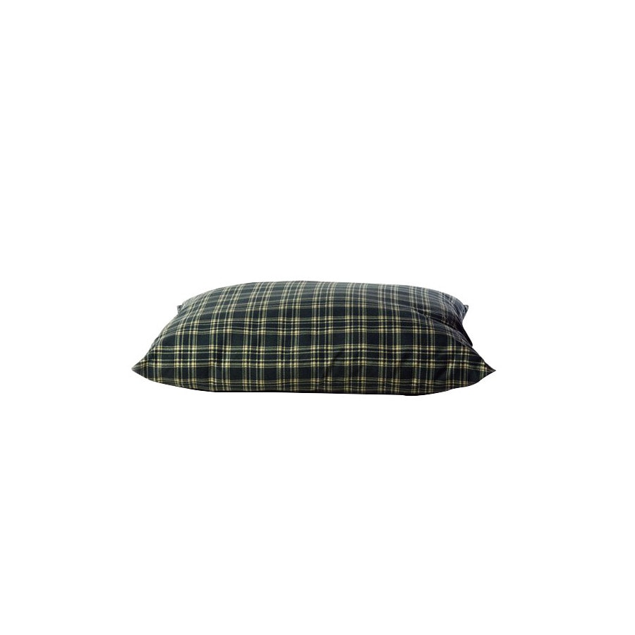 Carolina Pet Company Green Plaid Polyester Rectangular Dog Bed