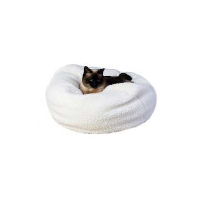 Swell Carolina Pet Company Natural Sherpa Fleece Round Dog Bed At Squirreltailoven Fun Painted Chair Ideas Images Squirreltailovenorg