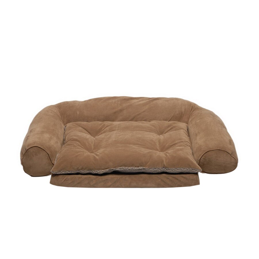 Carolina Pet Company Chocolate Microfiber Dog Bed