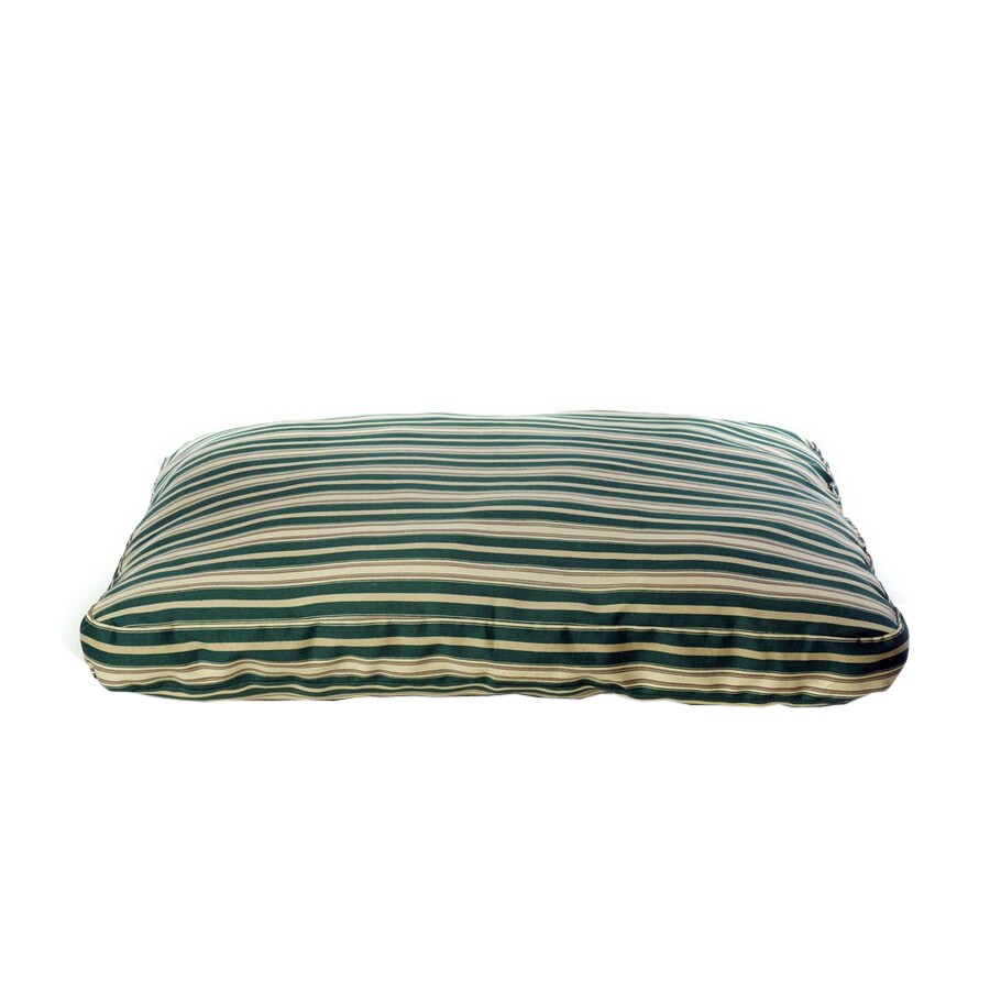 Carolina Pet Company Green Stripped Cotton Twill Rectangular Dog Bed