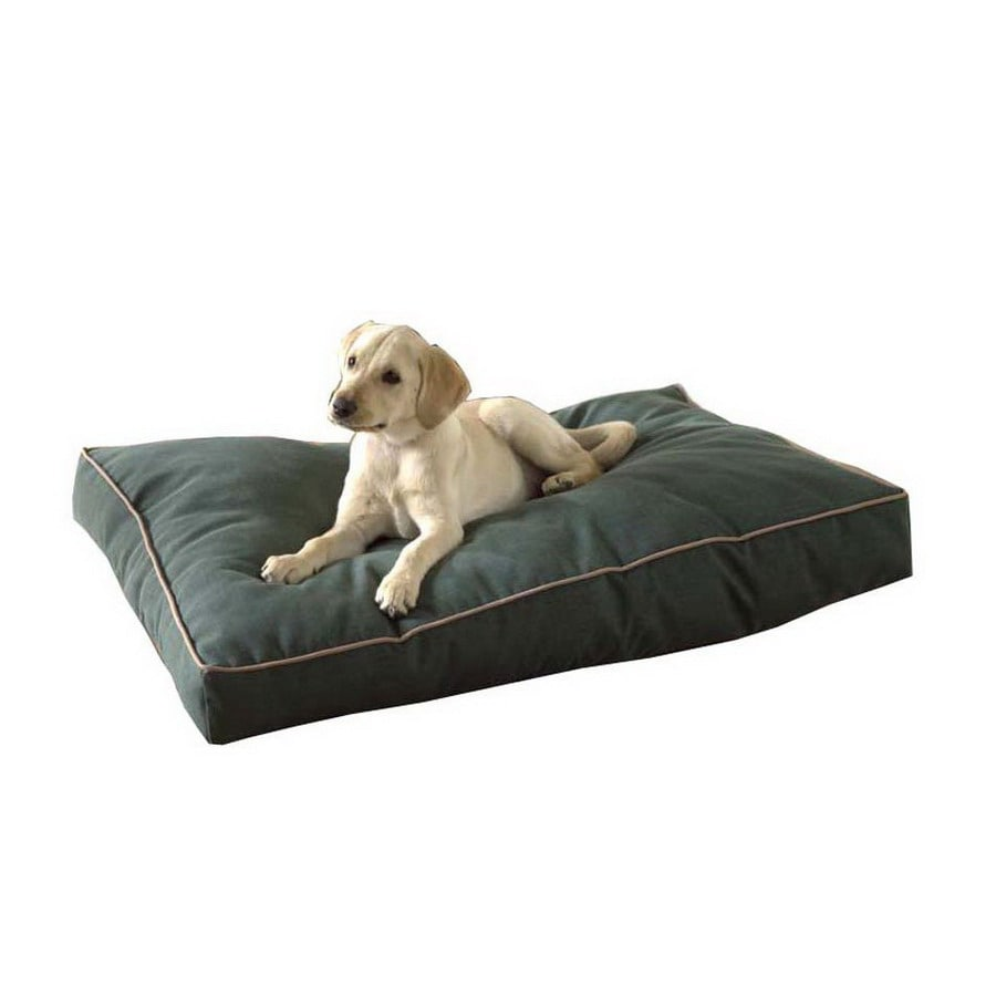 Carolina Pet Company Hunter Green Polyester Rectangular Dog Bed