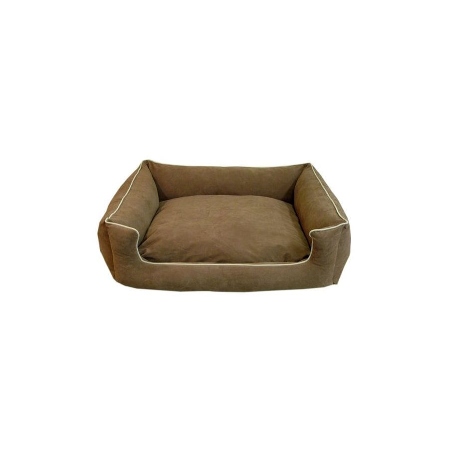 Carolina Pet Company Chocolate Polyester Rectangular Dog Bed