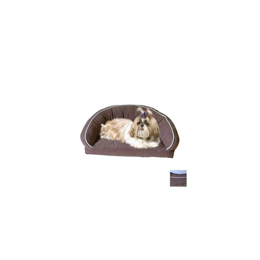 Carolina Pet Company Chocolate/Linen Piping Microfiber Dog Bed