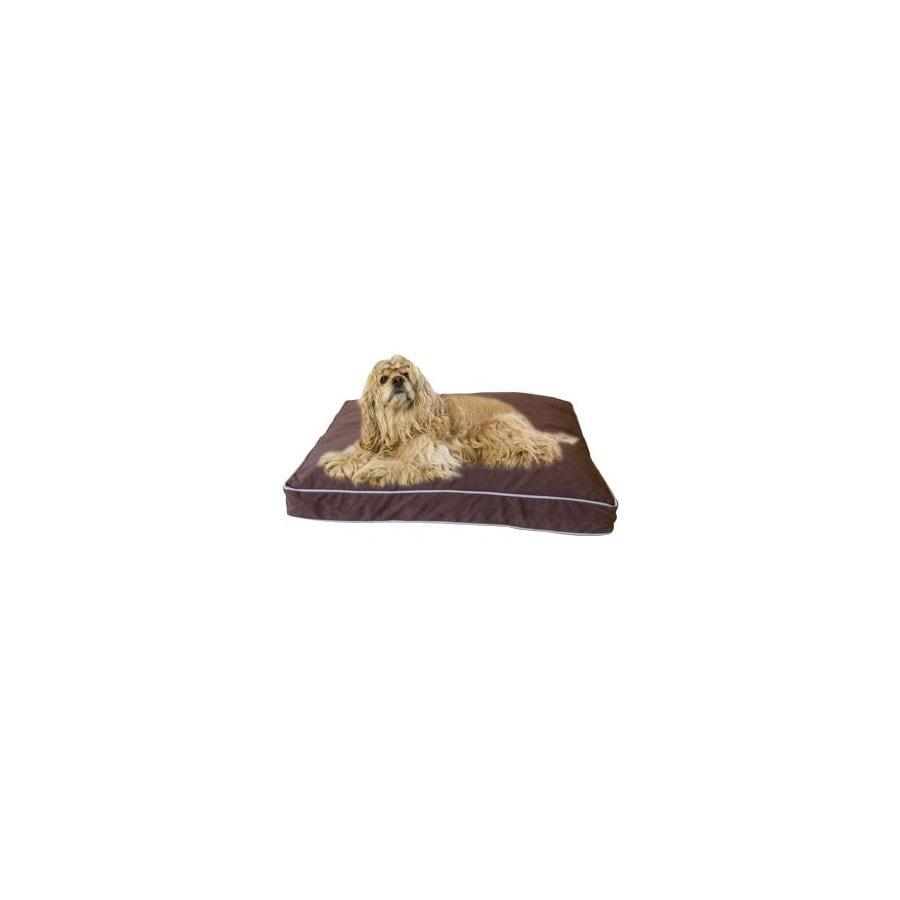 Carolina Pet Company Chocolate Microfiber Rectangular Dog Bed