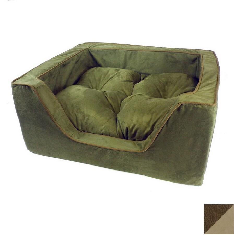 Snoozer Suki Pecan/Peat Microsuede Rectangular Dog Bed