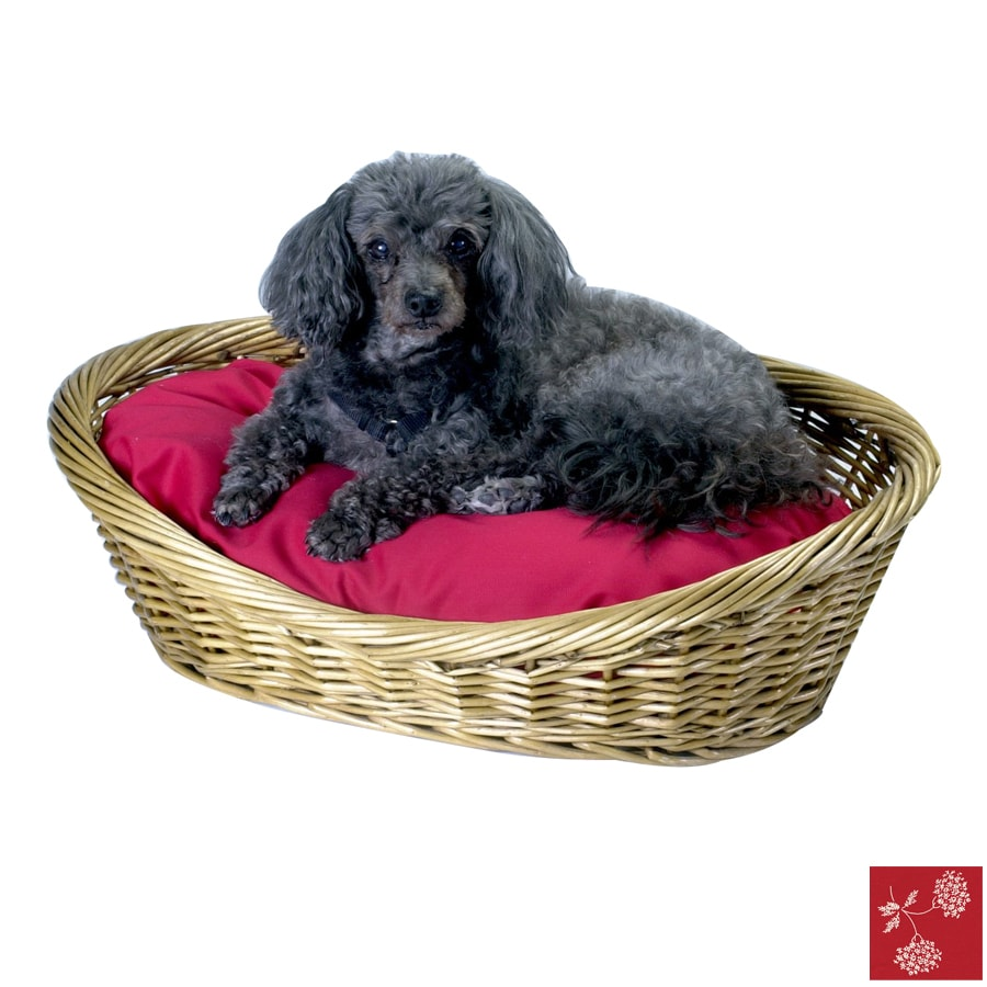 Snoozer Prairie Red Polyester/Cotton Oval Dog Bed