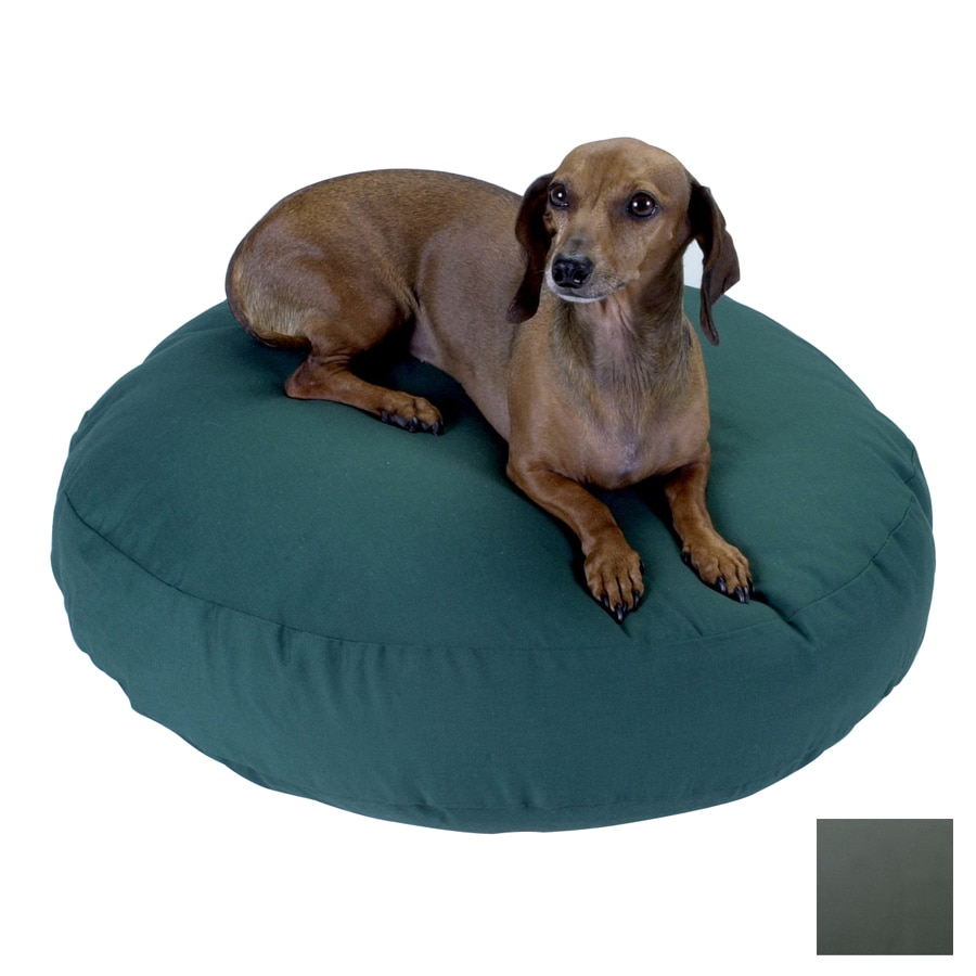 Snoozer Gray Polyester/Cotton Round Dog Bed