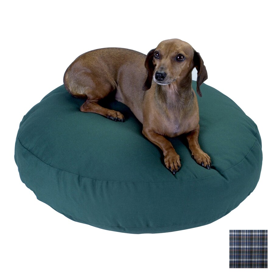 Snoozer Azure Plaid Polyester/Cotton Round Dog Bed