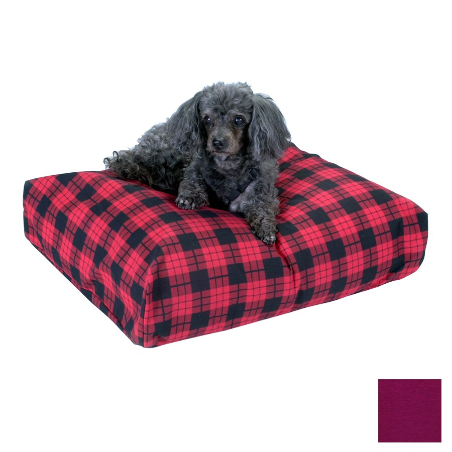 Snoozer Plum Polyester/Cotton Rectangular Dog Bed