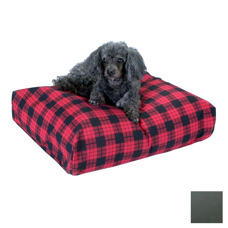 Snoozer Gray Polyester/Cotton Rectangular Dog Bed