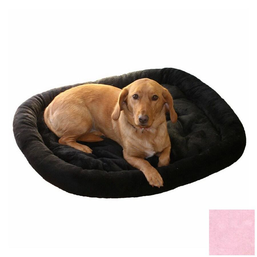 Snoozer Pink Fur Oval Dog Bed
