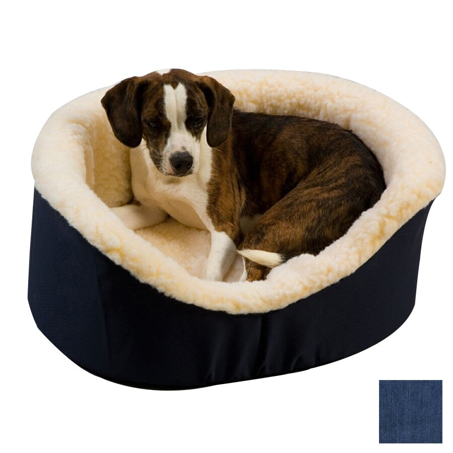 Snoozer Denim Poly Cotton Oval Dog Bed