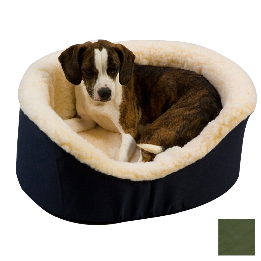 Snoozer Olive Poly Cotton Oval Dog Bed