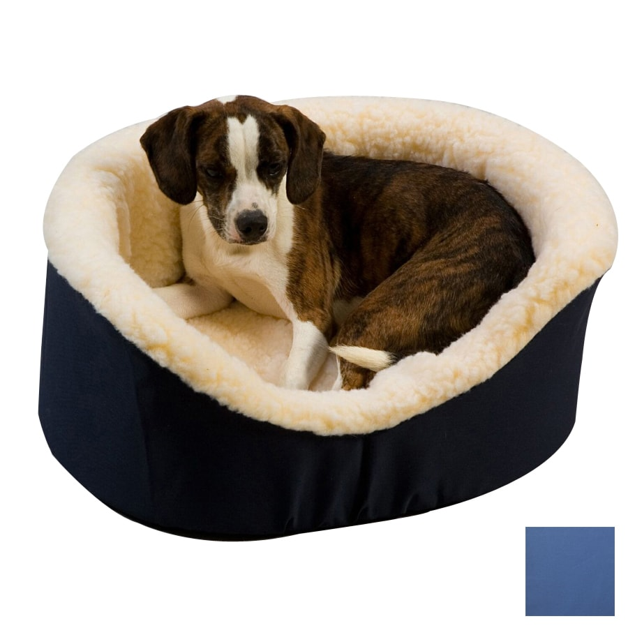 Snoozer Royal Blue Poly Cotton Oval Dog Bed
