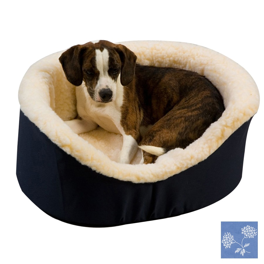 Snoozer Carolina Sky Poly Cotton Oval Dog Bed