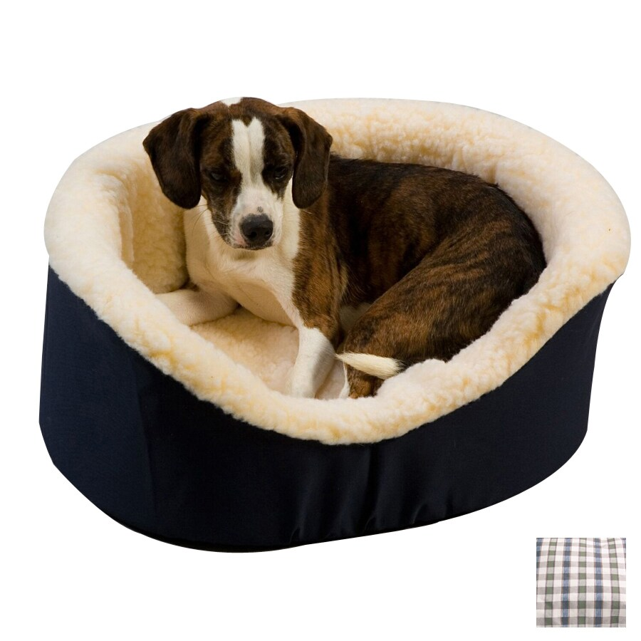 Snoozer Colonial Plaid Poly Cotton Oval Dog Bed