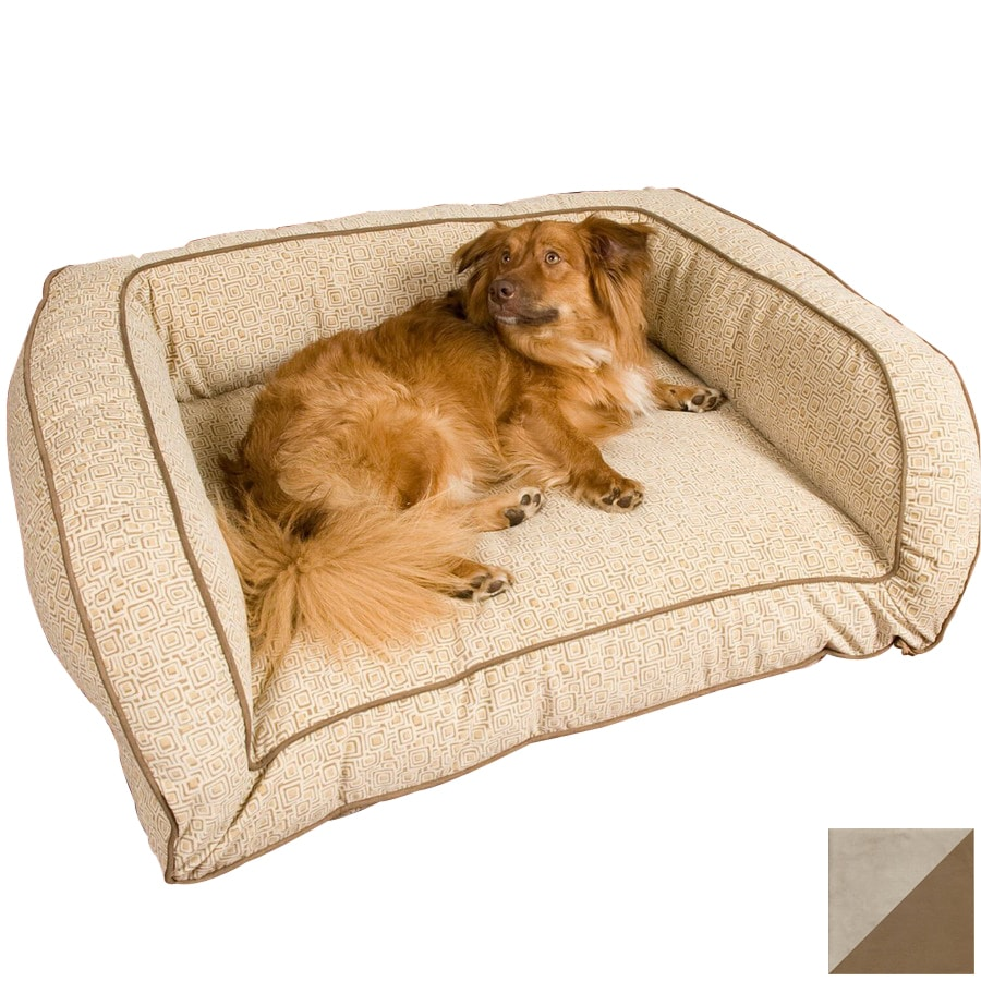 Snoozer Buckskin/Java Microsuede Rectangular Dog Bed