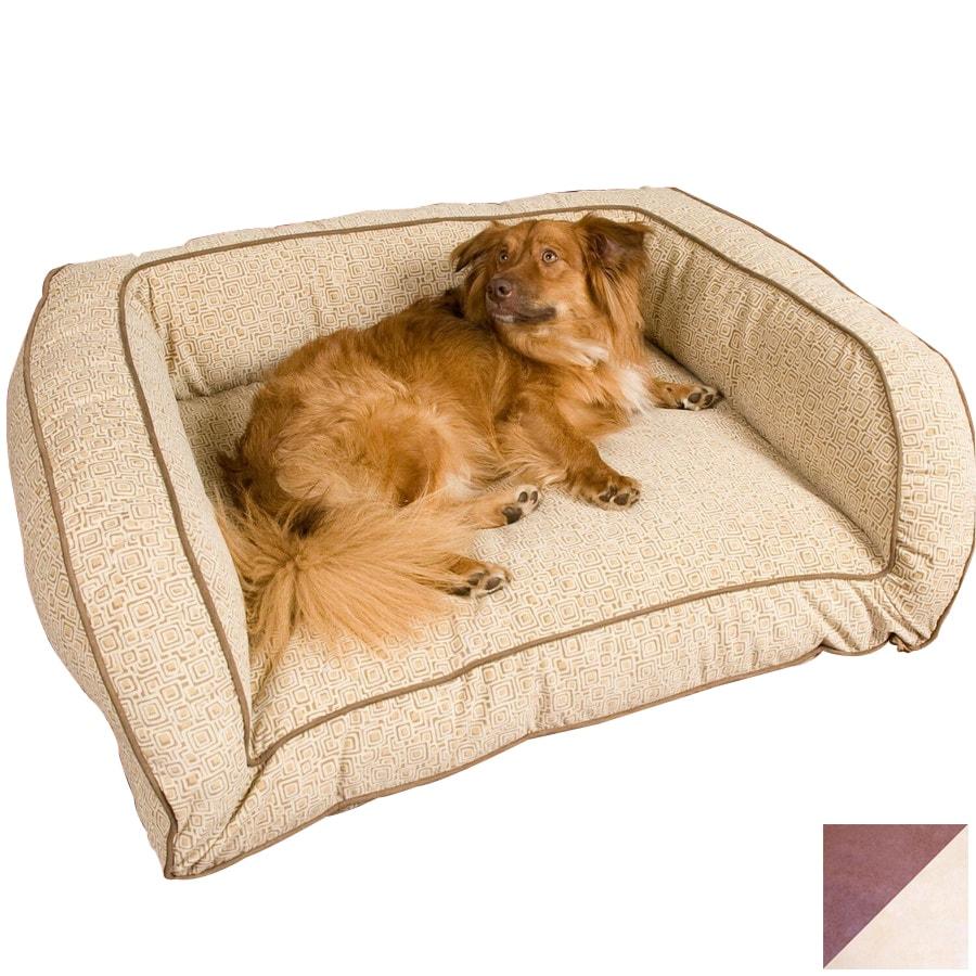 Snoozer Saddle/Butter Microsuede Rectangular Dog Bed