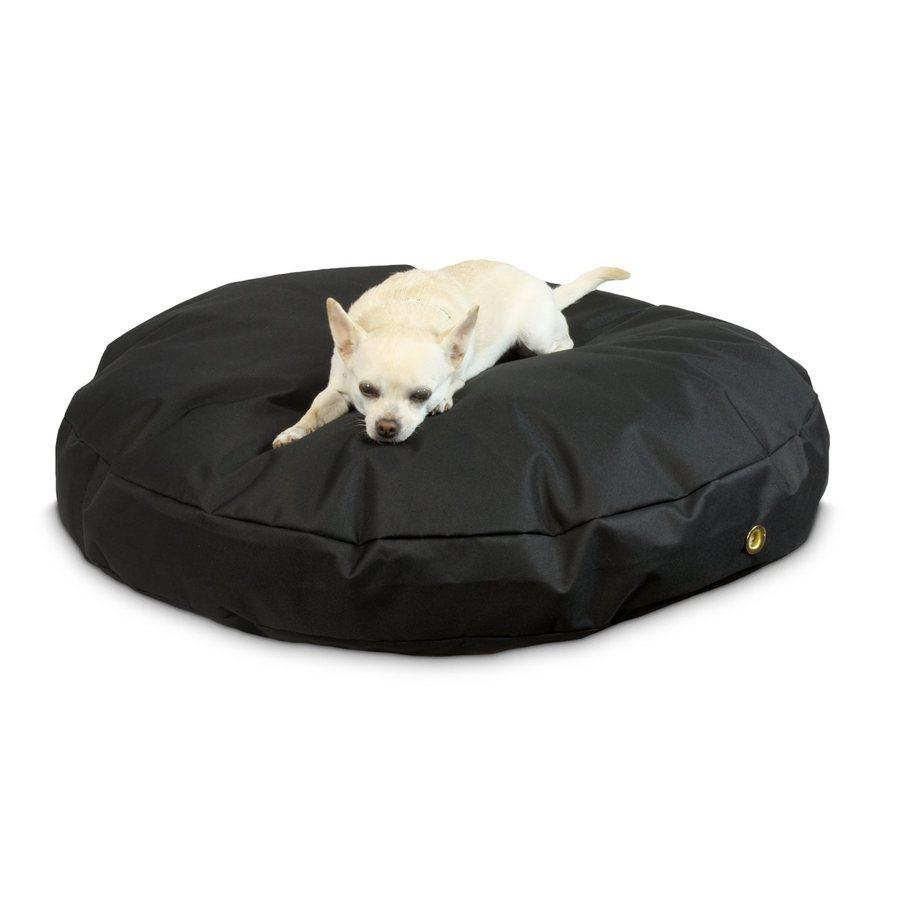 Snoozer Black Polyester Round Dog Bed