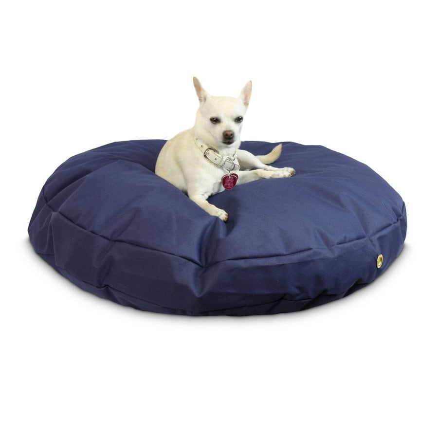 Snoozer Navy Polyester Round Dog Bed
